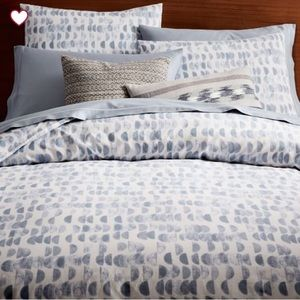 West Elm Half Moon duvet and shams - king size